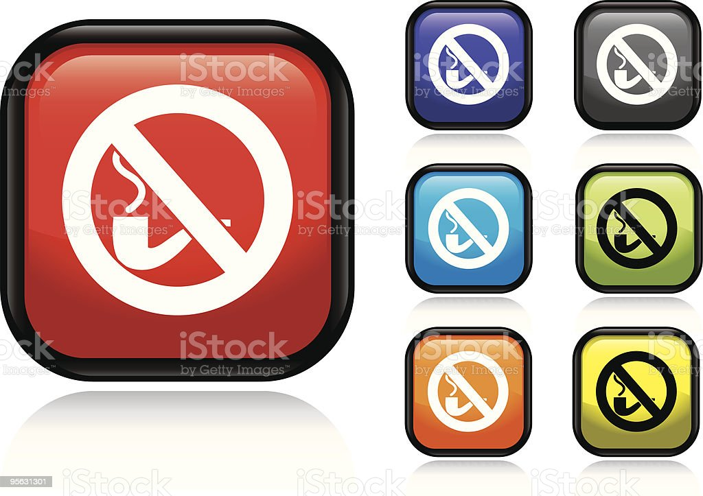 No Smoking Icon vector art illustration