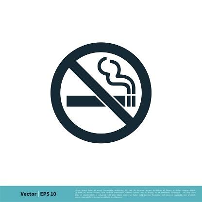 No Smoking Icon Vector Logo Template Illustration Design. Vector EPS 10.