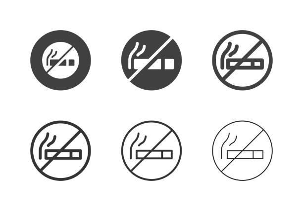 No Smoking Icons - Multi Series vector art illustration