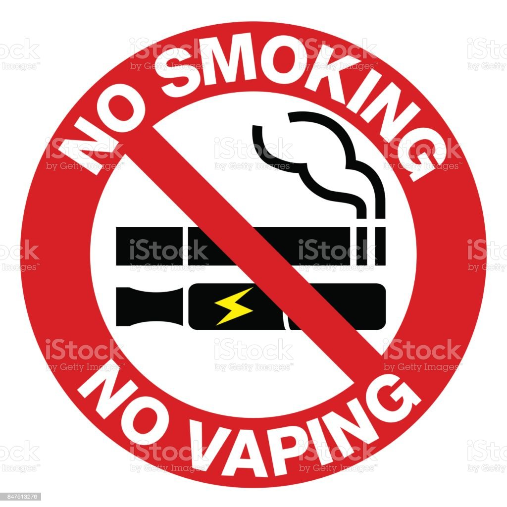 No Smoking including electronic cigarettes sign. royalty-free no smoking including electronic cigarettes sign stock vector art & more images of banner - sign