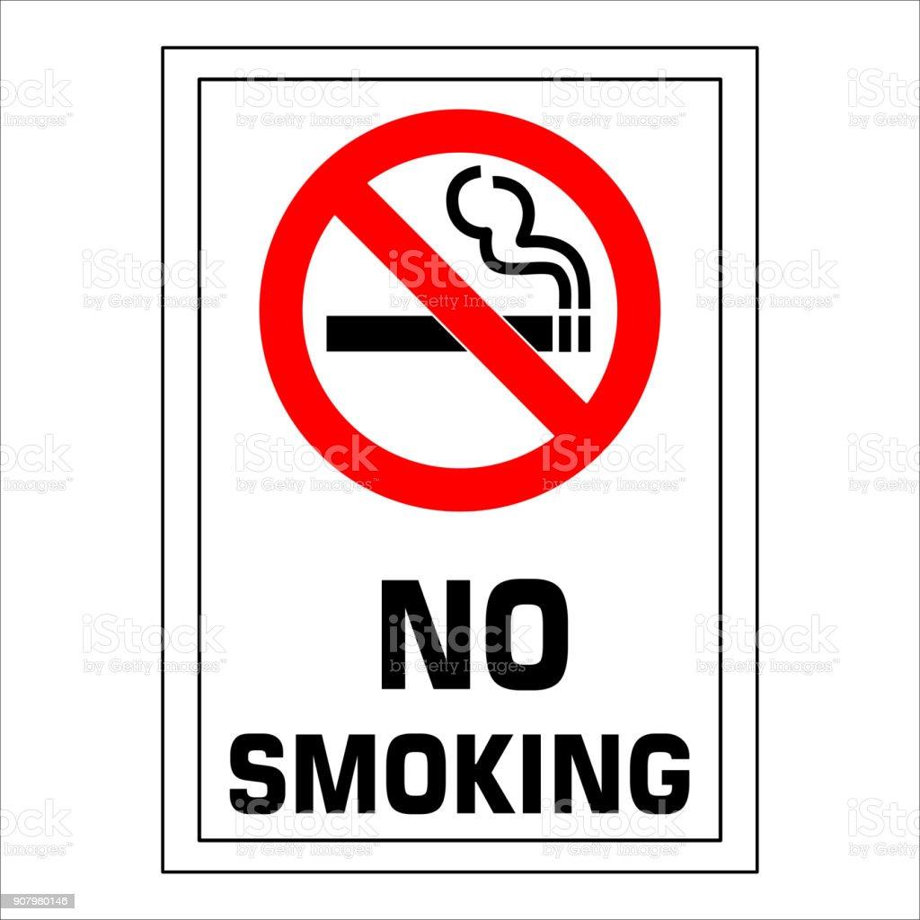 Aucun Signe De Fumer Ic Ne De Signe Interdit Isol Sur Illustration