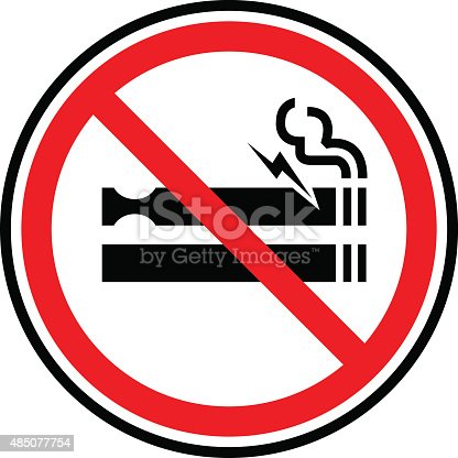 Vector of NO Smoking Including Electronic Cigarettes Sign icon. EPS ai 10 file format.