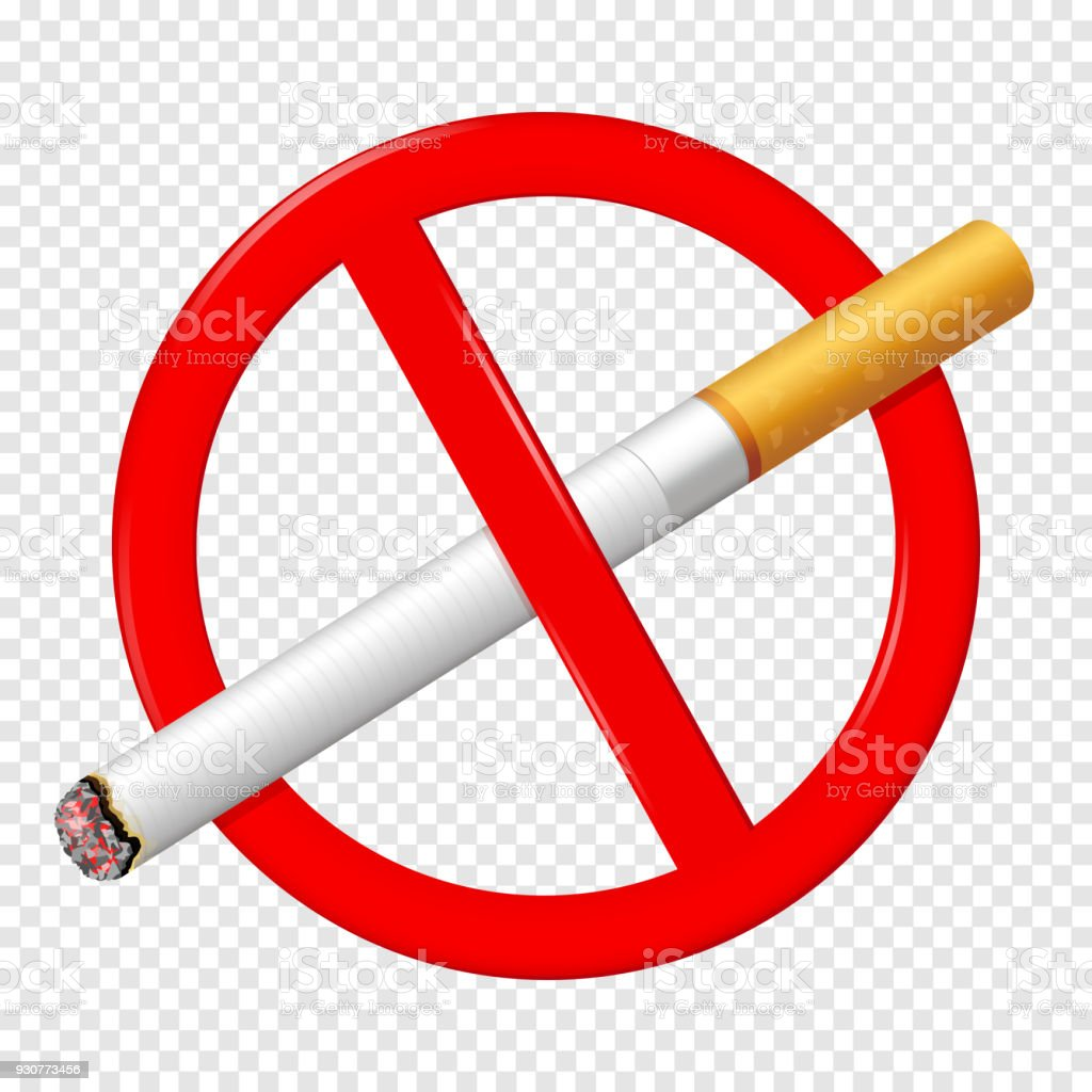No Smoking Sign Isolated On Transparent Background Stock