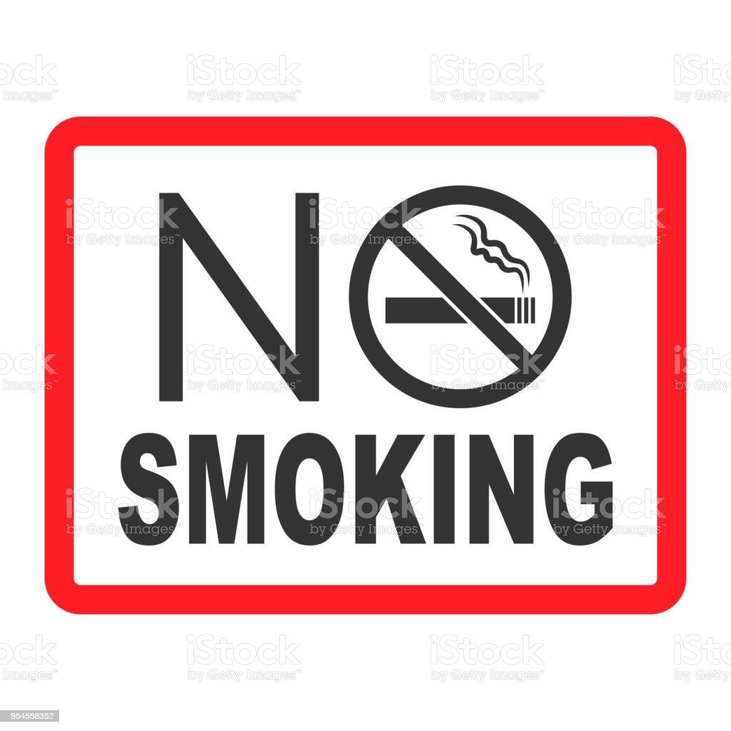 No Smoking Sign No Smoke Icon Stop Smoking Symbol Vector