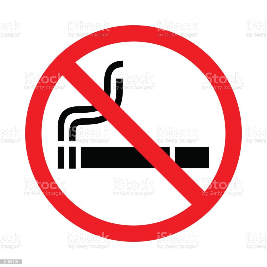 No smoking sign on white background. Vector illustration. vector art illustration