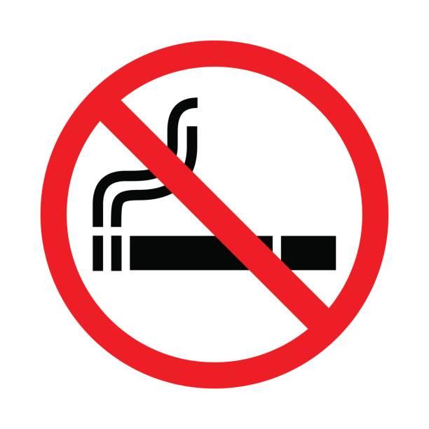 illustrations, cliparts, dessins animés et icônes de aucun signe de fumer sur fond blanc. illustration vectorielle. - liberté