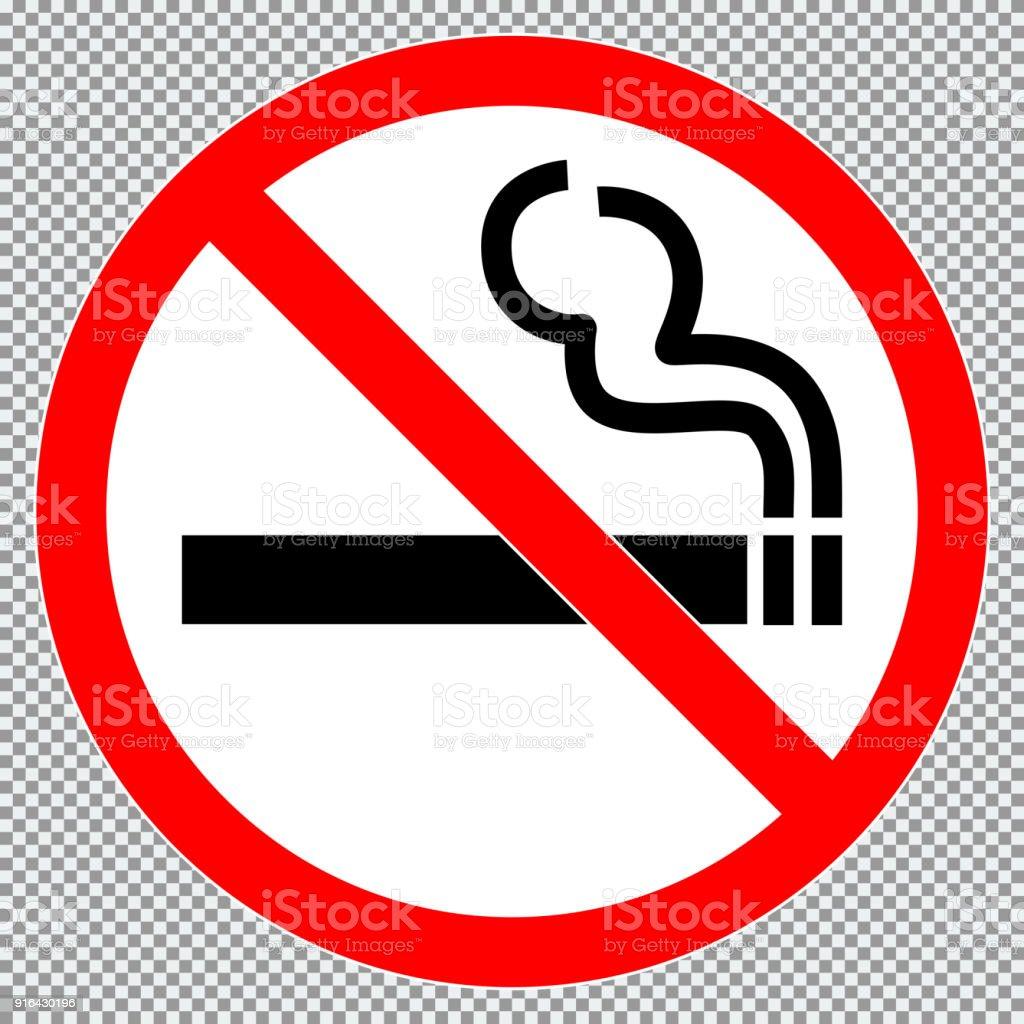 Aucun Signe De Fumer Ou Autocollant Ic Ne De Signe Interdit Isol