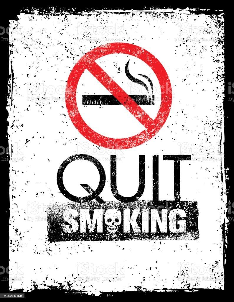No Smoking Sign Stop Smoke Symbol Rough Healthcare Grunge Background
