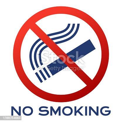 No smoking cigarettes tobacco products sign.