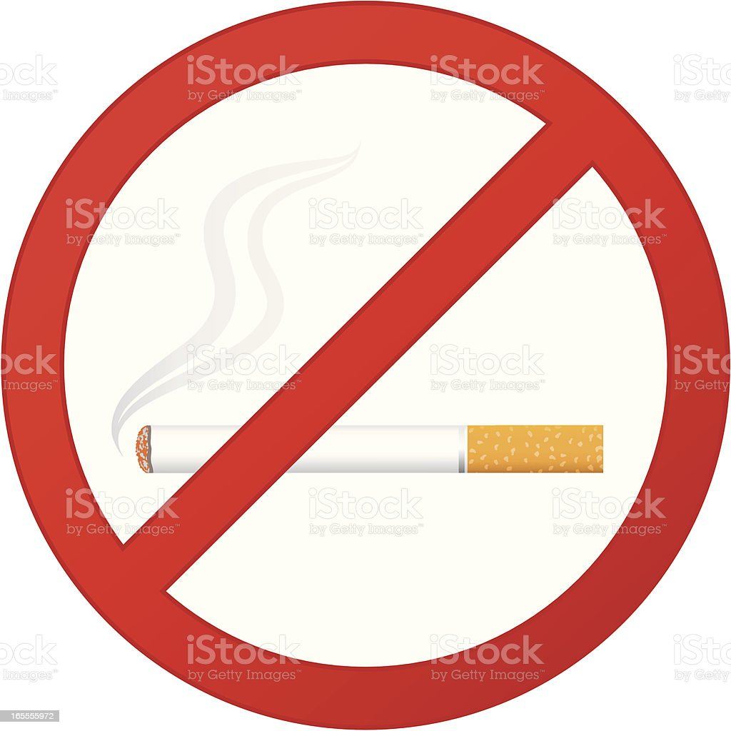 No smoking sign royalty-free stock vector art