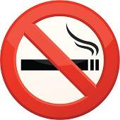 Vector illustration of 'No Smoking' sign