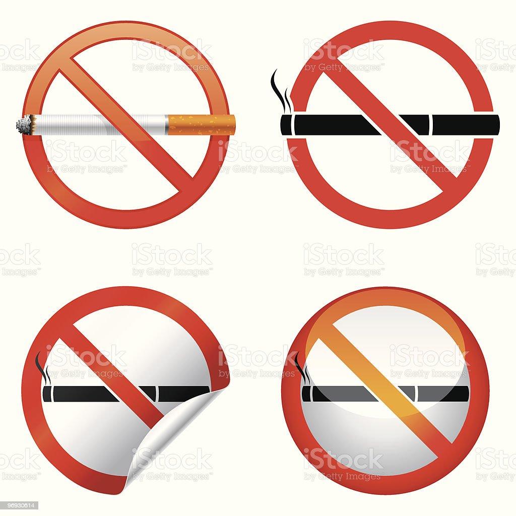 No smoking sign. royalty-free no smoking sign stock vector art & more images of black color