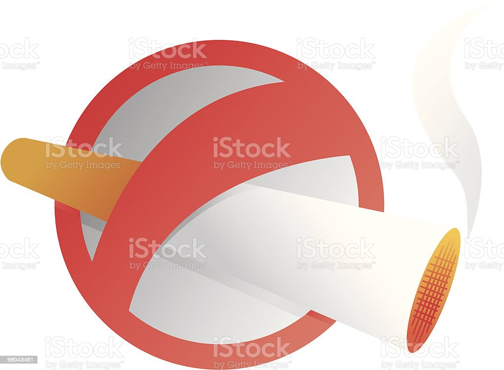 No smoking sign. royalty-free stock vector art
