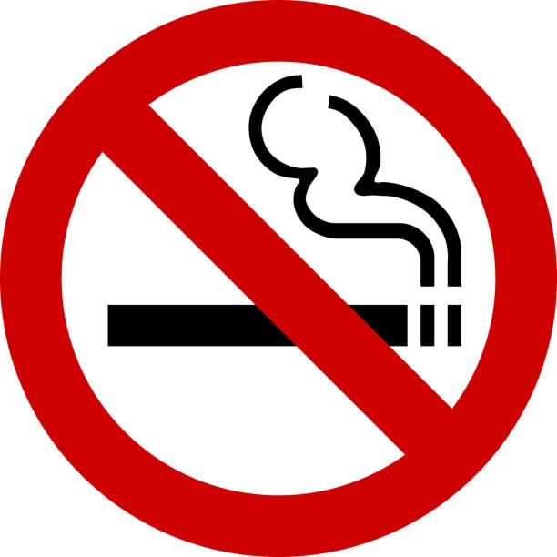 no smoking sign vector vector art illustration