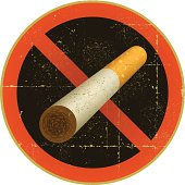 No Smoking Symbol - Grunge
