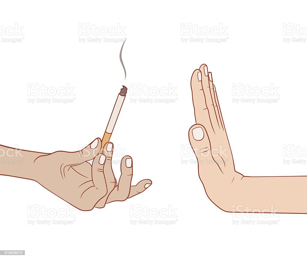 No smoking vector art illustration