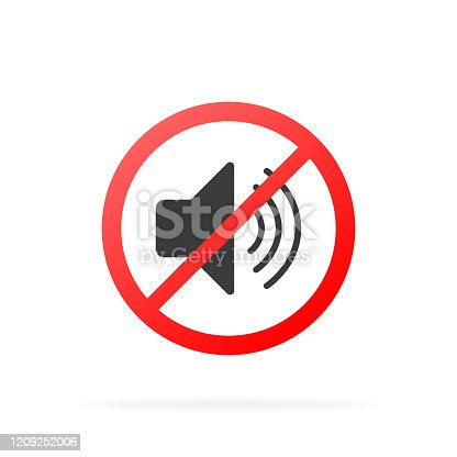 No sound vector phone sign. Vector illustration