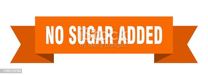 no sugar added ribbon. no sugar added paper band banner sign