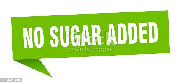 no sugar added speech bubble. no sugar added ribbon sign. no sugar added banner