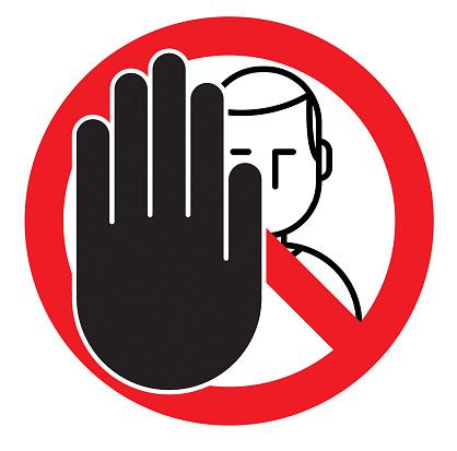 Vector No trespass sign