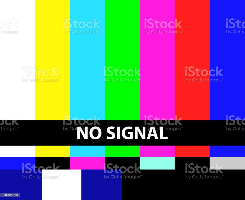 No TV signal vector art illustration