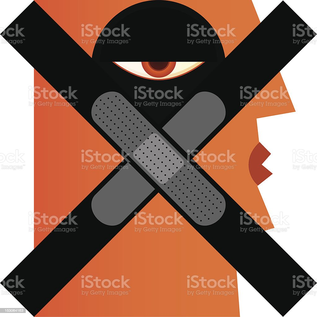 No Violence royalty-free stock vector art
