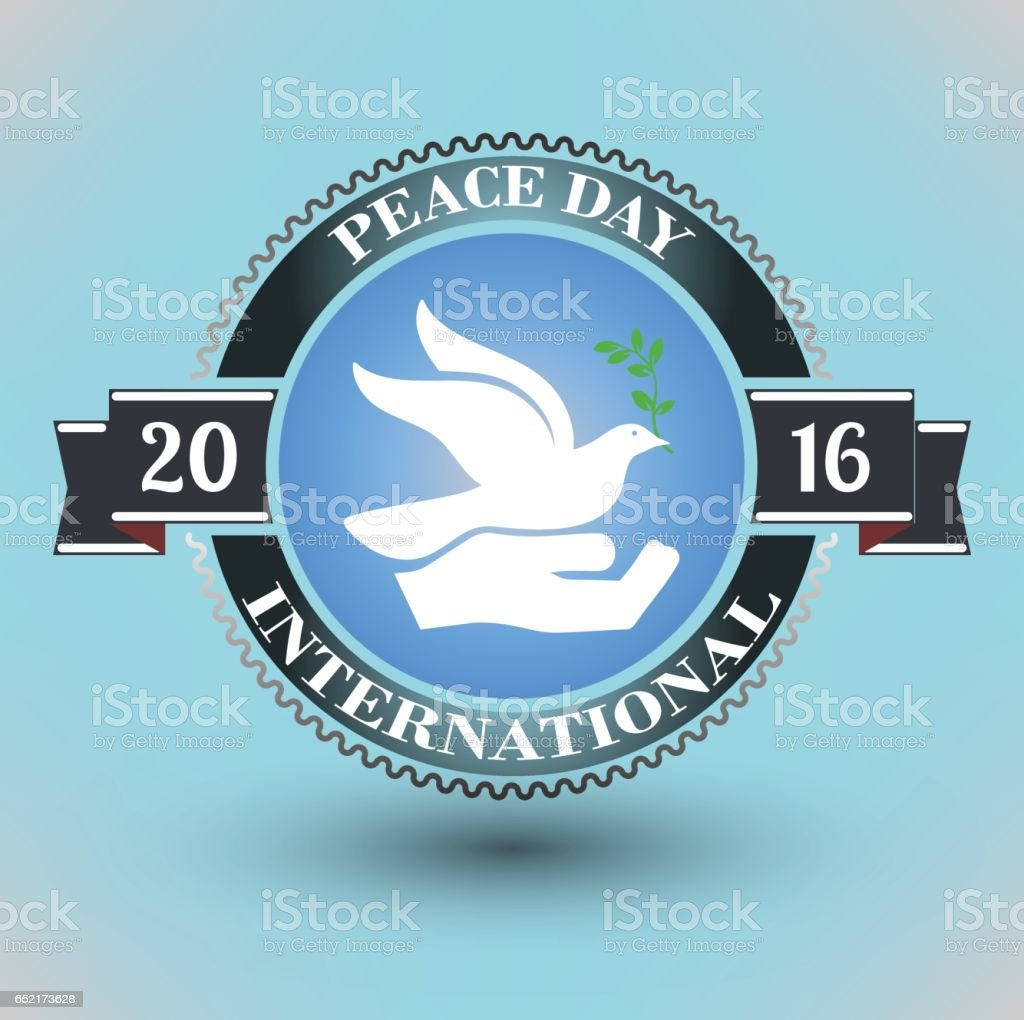 No War Ready Poster A Symbol Of Peace Is A Dove Peace Day Stock
