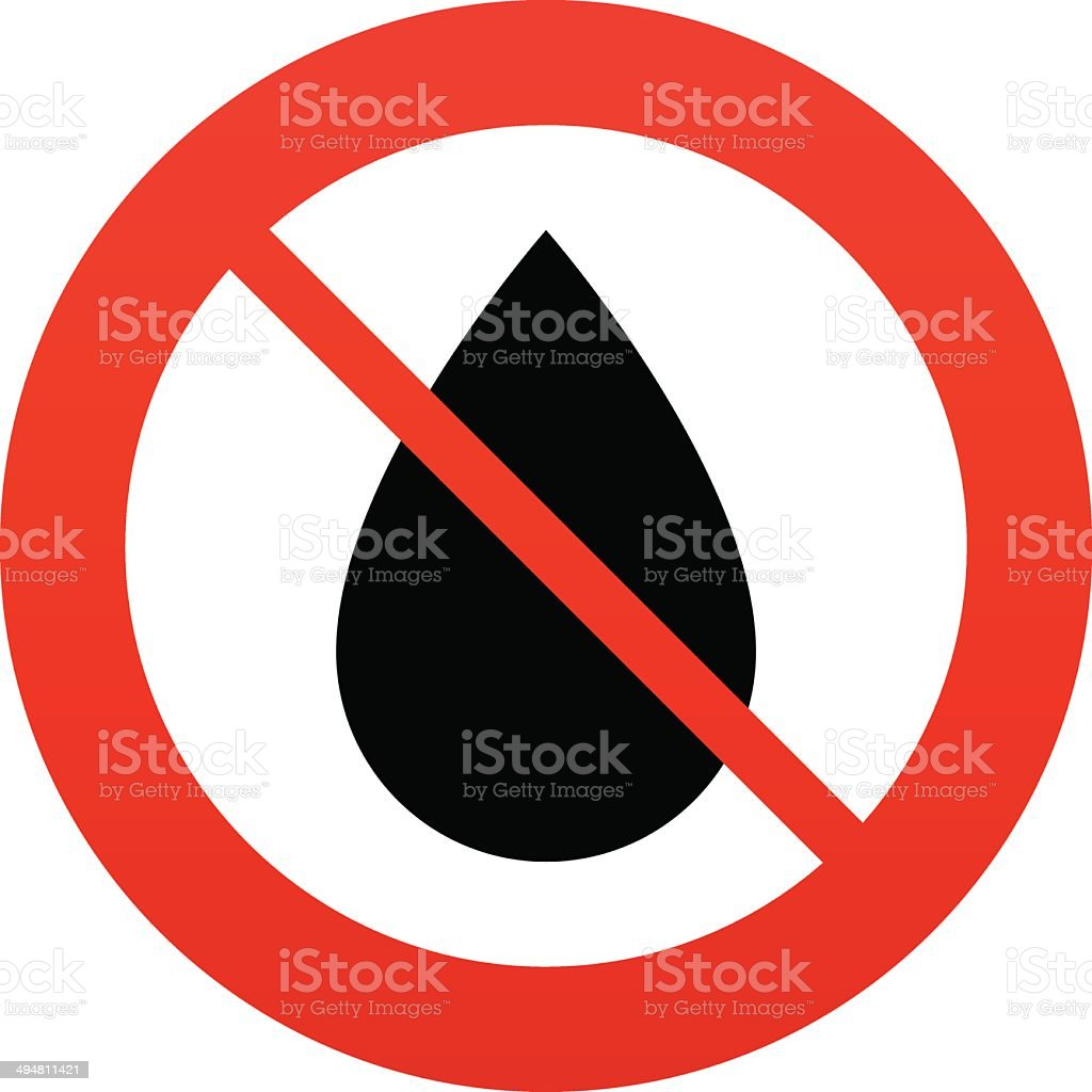 No Water drop sign icon. Tear symbol. royalty-free no water drop sign icon tear symbol stock vector art & more images of badge