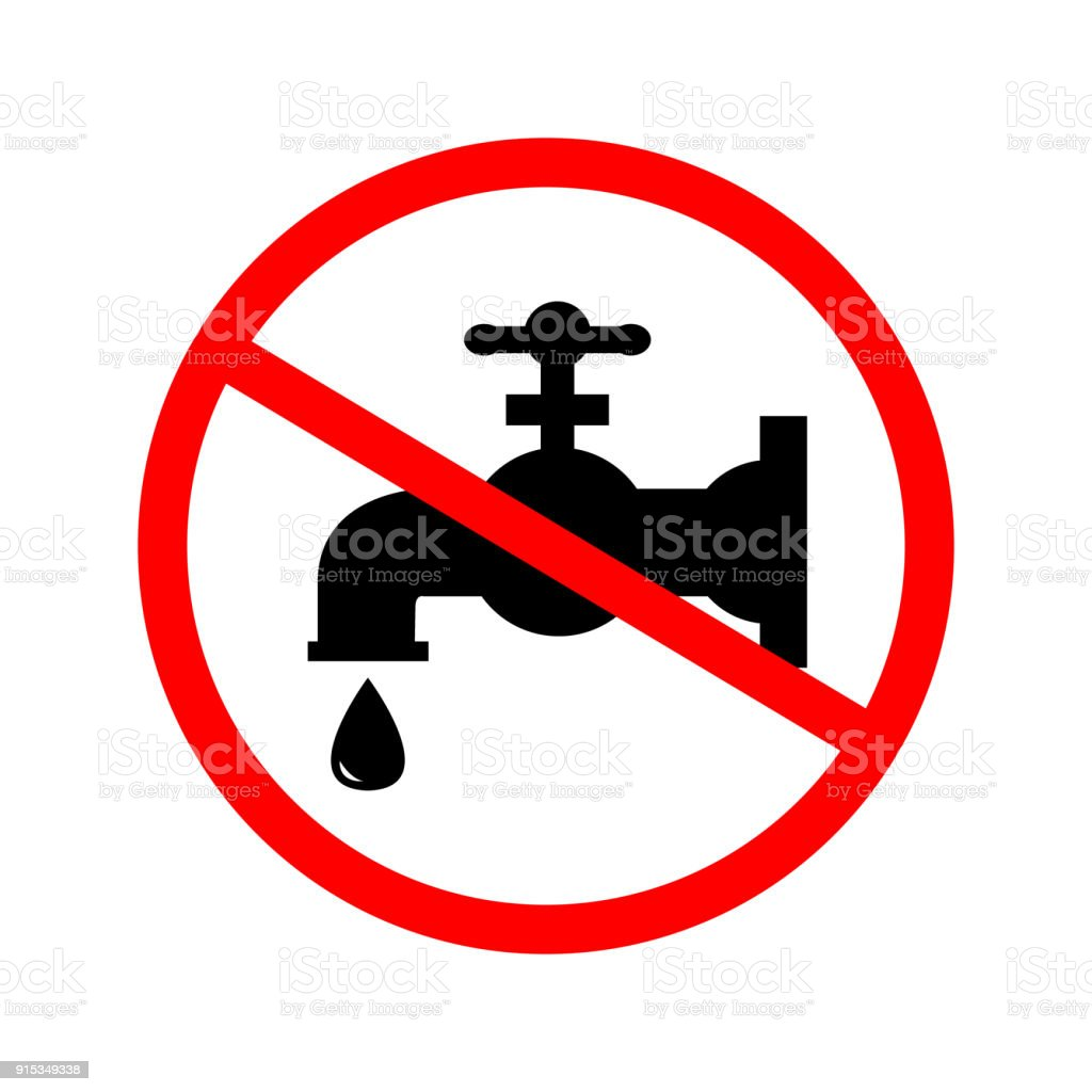 No water sign. royalty-free no water sign stock illustration - download image now