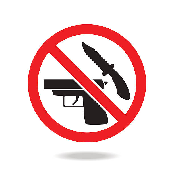 No weapons sign and symbol No weapons sign and symbol weapon stock illustrations