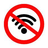No Wifi sign icon
