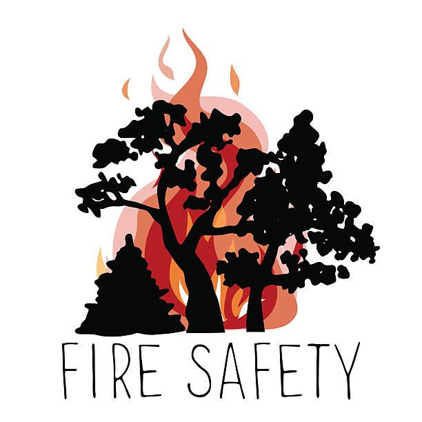 bildbanksillustrationer, clip art samt tecknat material och ikoner med no wildfire vector icon. - skog brand