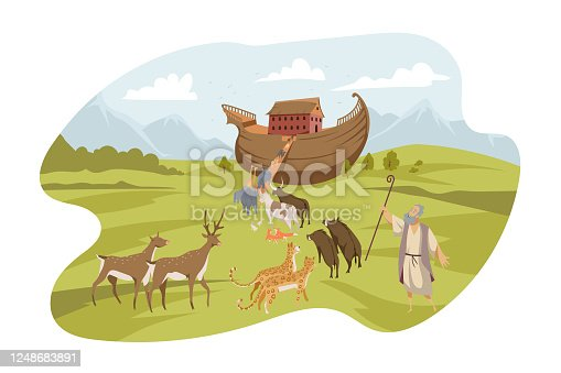 istock Noahs Ark, Bible concept 1248683891