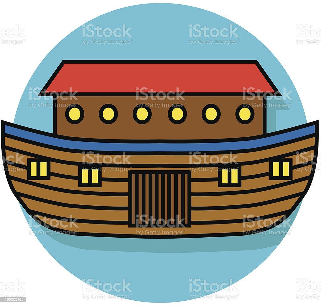 Noah's ark icon royalty-free stock vector art