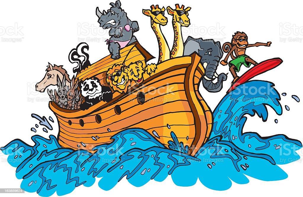 Noahs Ark royalty-free stock vector art