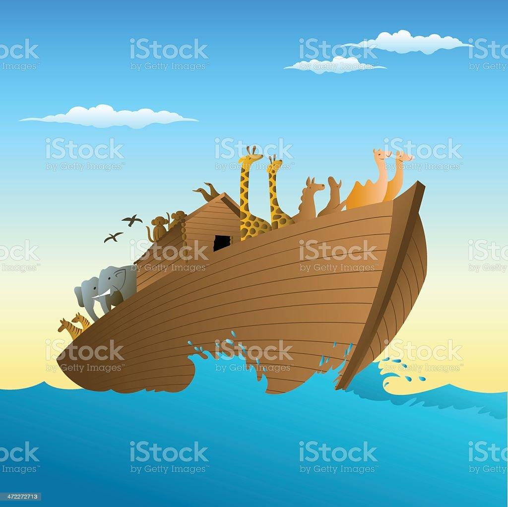 Noah's ark vector art illustration