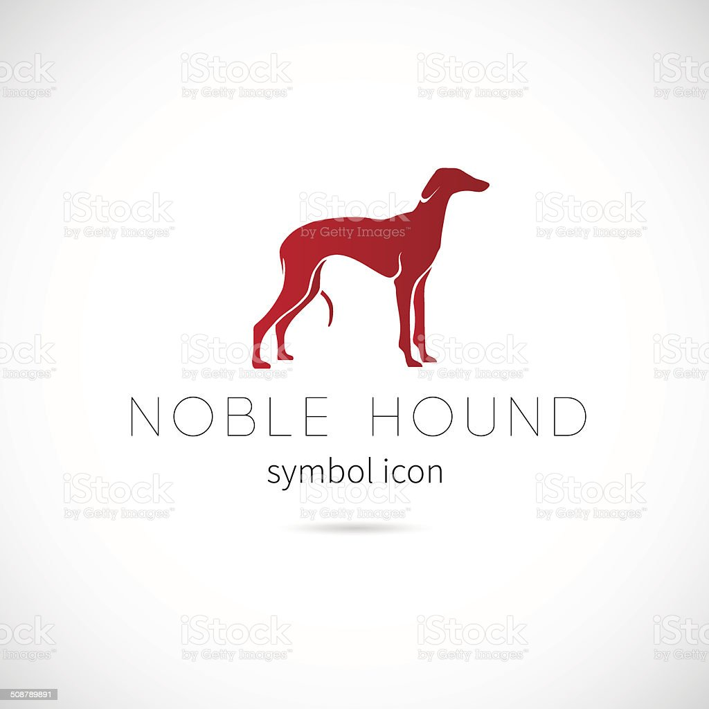 Noble Hound Silhouette Vector Symbol Icon or Label vector art illustration