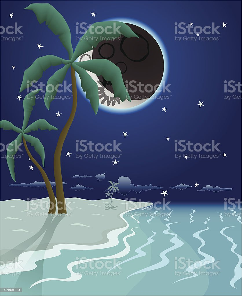 Nocturne Pristine Beach royalty-free nocturne pristine beach stock vector art & more images of beach