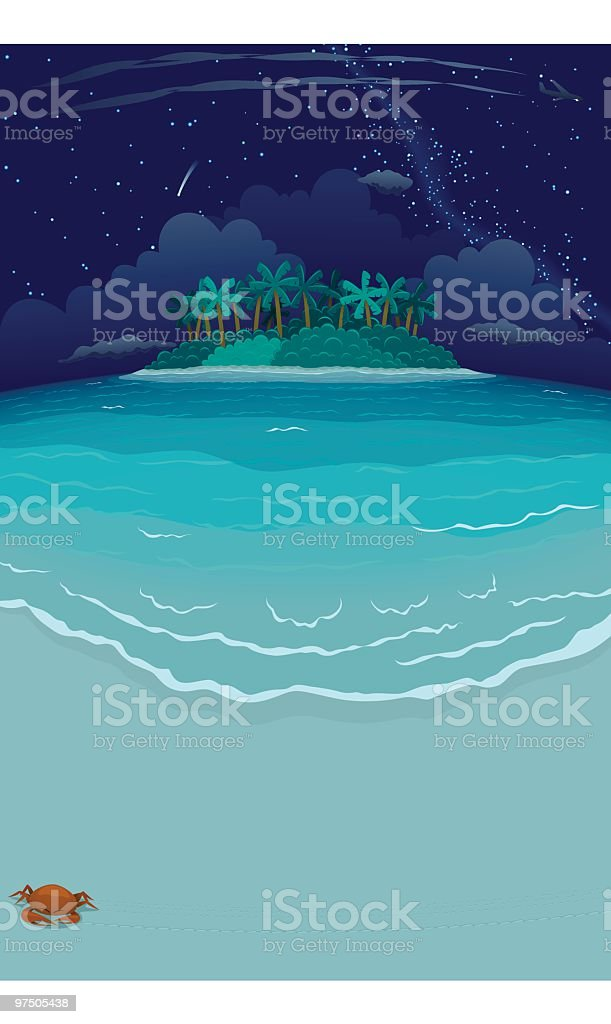 Nocturne Tropical Beach & Island royalty-free nocturne tropical beach island stock vector art & more images of absence