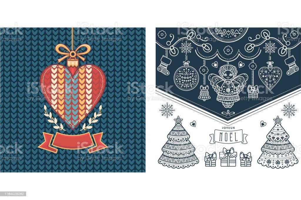 Ilustración De Noel Joyeux Noel Noel Xmas Texto Francés Para