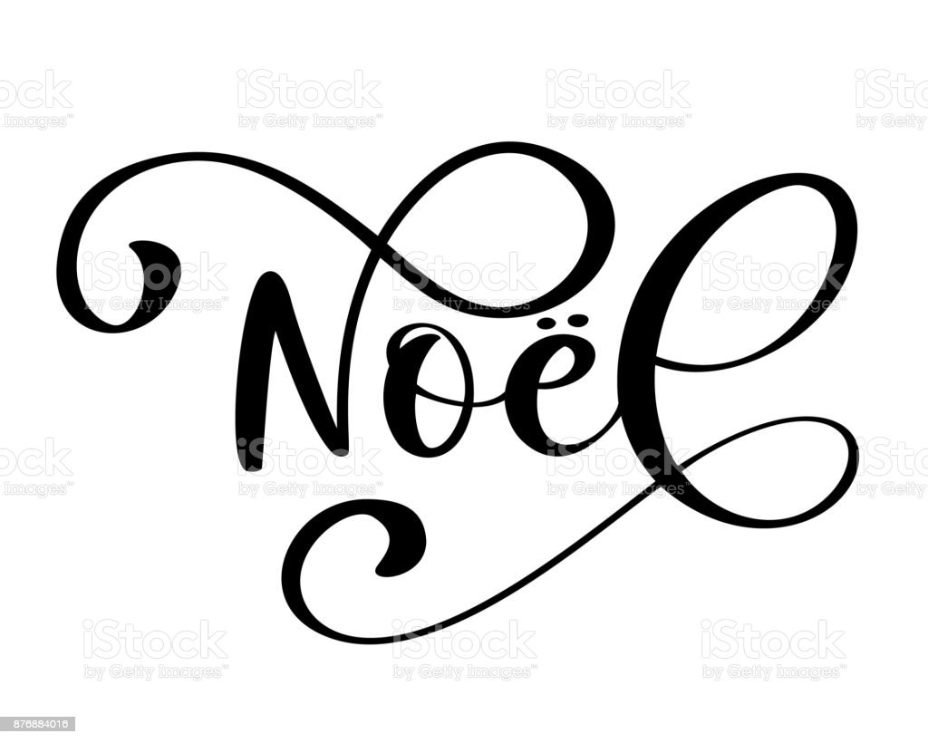 Noel Merry Christmas Card Template With Greetings In French Language
