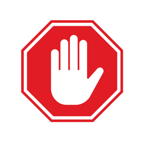 No-entry sign No-entry sign stop stock illustrations