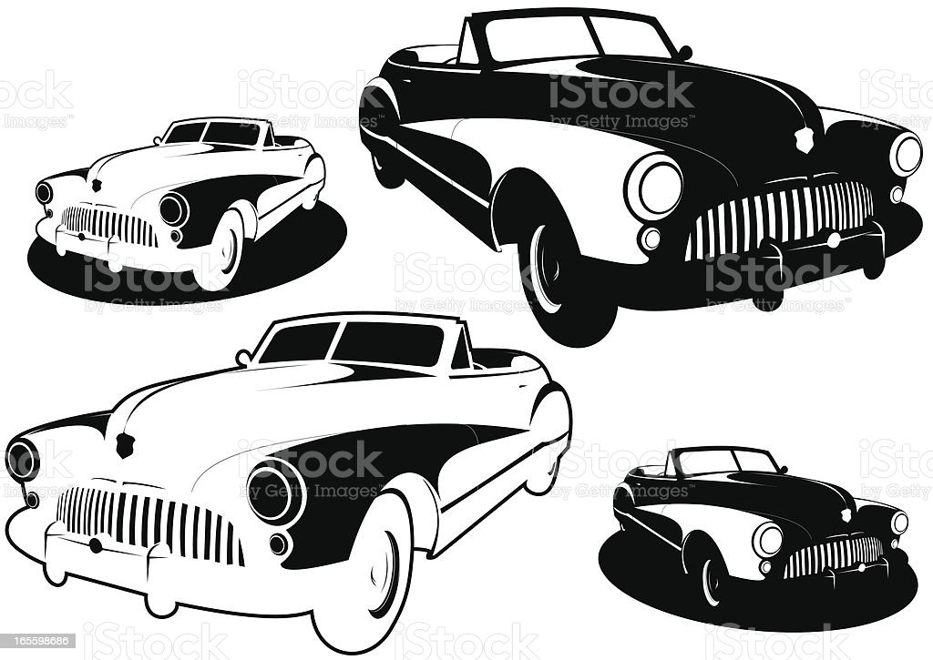 Noir car XXXVI royalty-free noir car xxxvi stock vector art & more images of 50-54 years