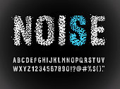 istock noise font alphabet 1196558876