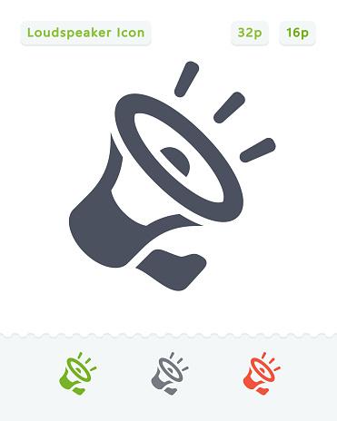 Noisy Loudspeaker - Carbon Icons