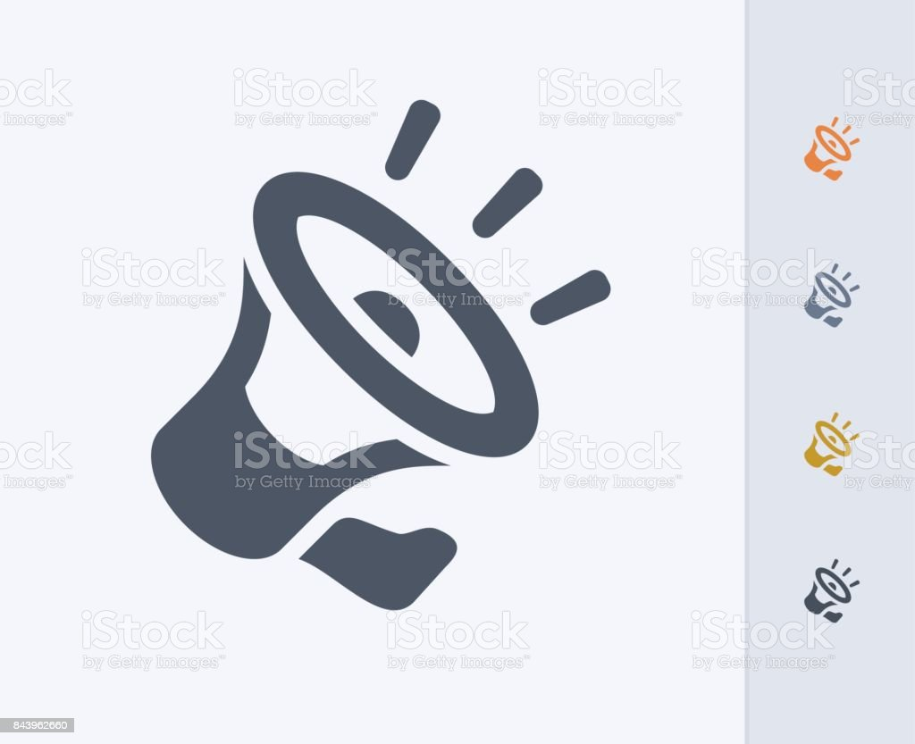 Noisy Loudspeaker - Carbon Icons vector art illustration