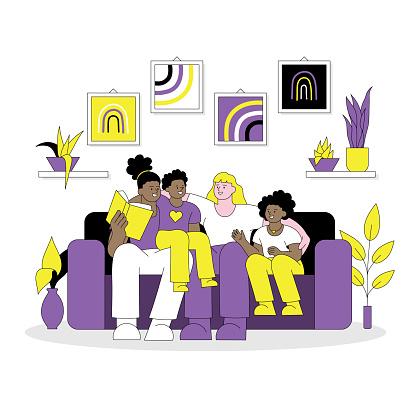 Non binary family LGBTQIA concept