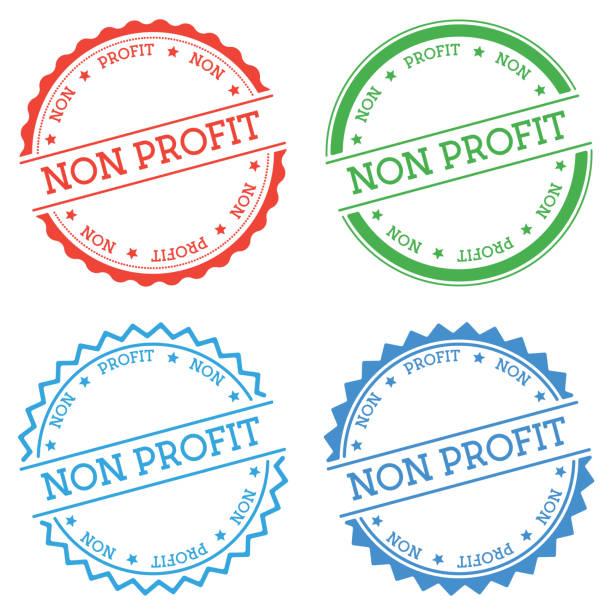 stockillustraties, clipart, cartoons en iconen met non-profit badge geïsoleerd op witte achtergrond. - non profit