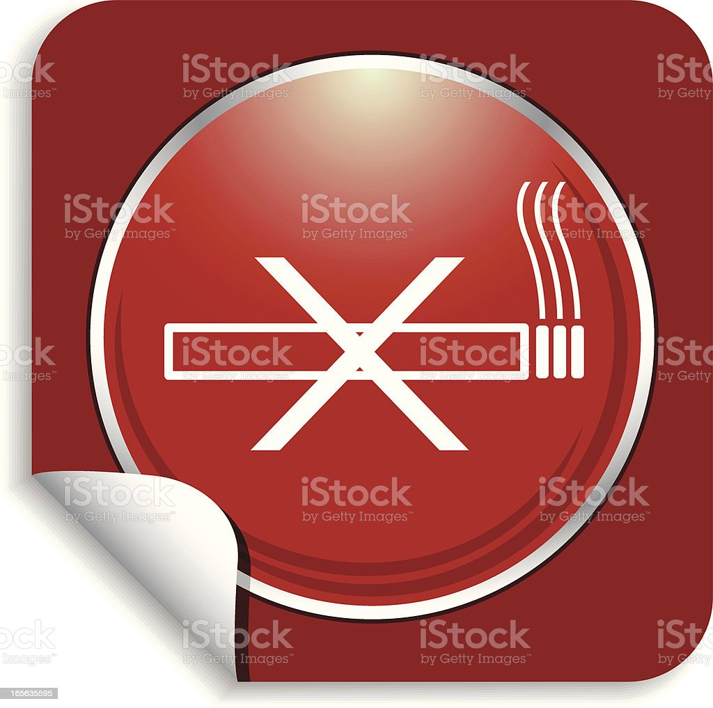 non smoking sticker royalty-free stock vector art
