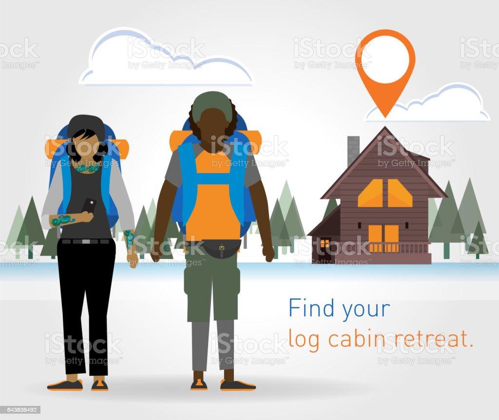 Non Traditional Travel Accommodations vector art illustration